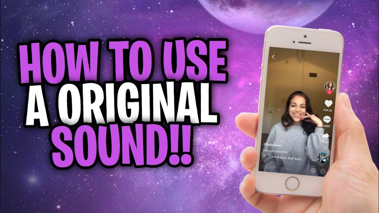 How To Use Someone S Original Sound On Tik Tok Youtube