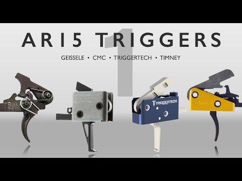 AR15 Trigger Comparison - Geissele, CMC, Triggertech, Timney