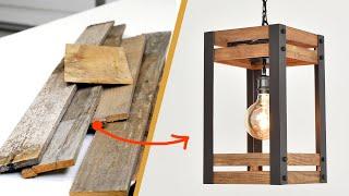 DIY Pendant Light from pallets