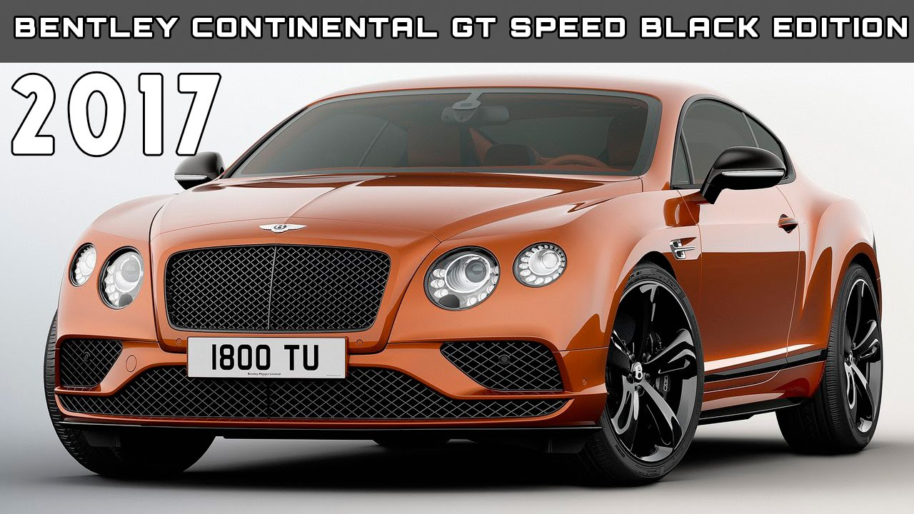 2017 bentley continental gt speed black edition stock # b1179 for.
