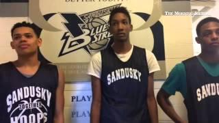 Sandusky's Jayrese Williams, Demond Hopkins and George Brown discuss their team's success this seaso