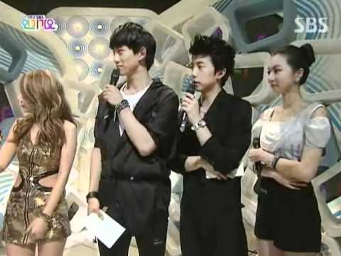Brown eyed - girls   Award interview @ SBS Inkigayo 인기가요 090830