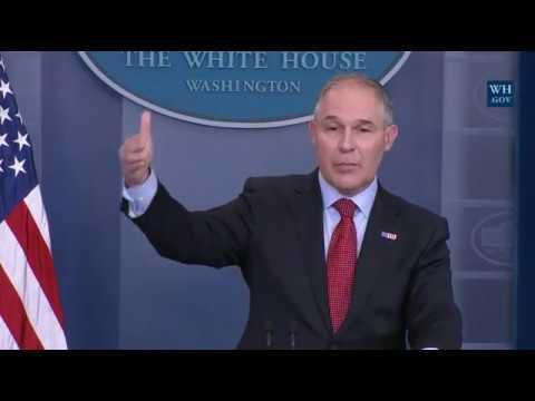 EPA Chief Scott Pruitt Educates 'Climate Exaggerators' on Paris Agreement