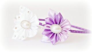 Простая бабочка Канзаши Мастер-класс / Butterfly kanzashi Tutorial / DIY(В этом видео я покажу, как быстро и просто можно сделать красивую бабочку из простых лепестков канзаши...., 2016-03-20T10:32:15.000Z)