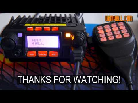 TalkPod VHF/UHF 25W/20W Mini Mobile HAM Radio