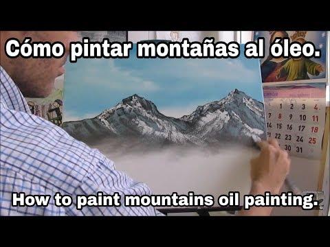 Cómo pintar montaña con espátula al óleo.