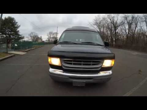 4K Review 1998 Ford E150 Hightop Conversion Van Virtual Test-Drive & Walk-around