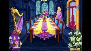 Прохождение игры  Барби / Barbie™ Принцесса Рапунцель. Создай столовую