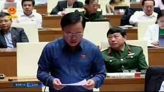 Đại biểu Nguyễn Quốc Hận phát biểu sáng 30-10