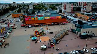Дзержинск - полёт над Универмагом, Ройяль, улица Гайдара /4K video/