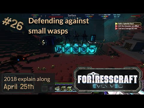 Defending against small wasps - FortressCraft Evolved - Patch 21 2018 ep26 |