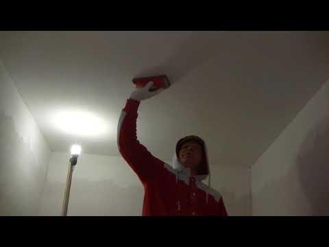 Как затирать потолок после шпаклевки перед покраской