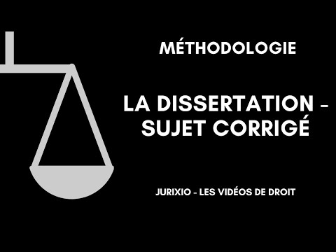 Видео Dissertation corrige droit constitutionnel