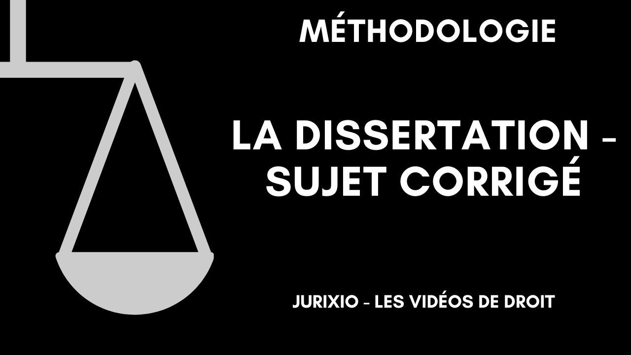 Corrige de dissertation