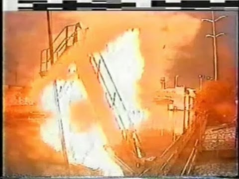 2005 video of exploding barge