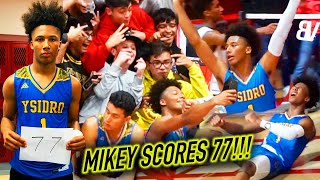 Mikey Williams 77 POINT GAME! WINDMILLS + PULLS FROM LOGO! Gets MVP & MIKEY CHANTS + Sets NEW RECORD