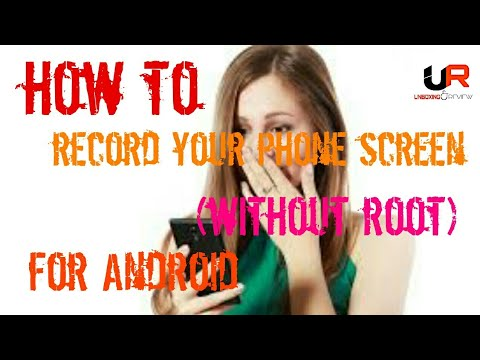 How To Record Your Phone Screen(WITHOUT ROOT) FOR ANDROID || HINDI ||