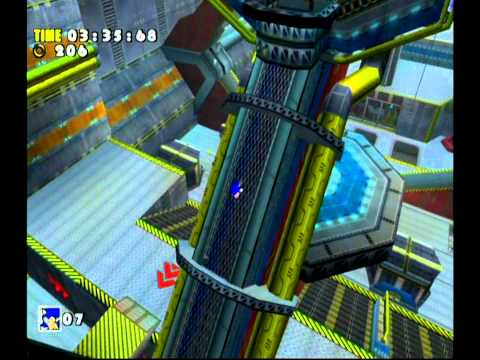 Sonic Adventure DX (GC) Sonic - Sky Deck Missions Level B and A