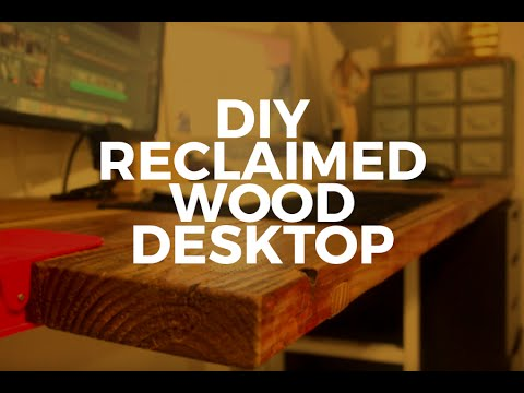 how to make a desk out of a countertop