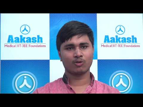 Aakash Institute Bangalore reviews: AIPMT 2015 Topper (Vipul Rank-1)
