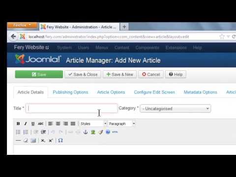 Tutorial Cara Membuat Website Dengan Joomla