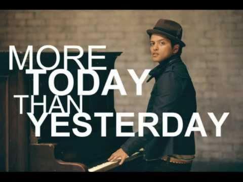 Bruno Mars - More Today Than Yesterday (Lyrics) [2011!]