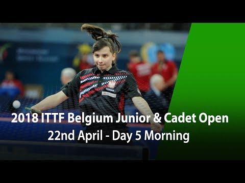 2018 Belgium Junior & Cadet Open - Day 5 Morning