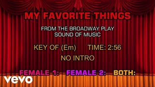 The Sound of Music - My Favorite Things (Karaoke)