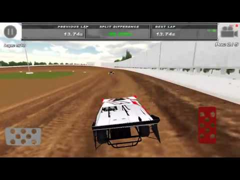 Dirt Trackin'  gameplay at Kentucky Lake Speedway  best lap of 14.34  running on an iPhone 5 iOS ...
