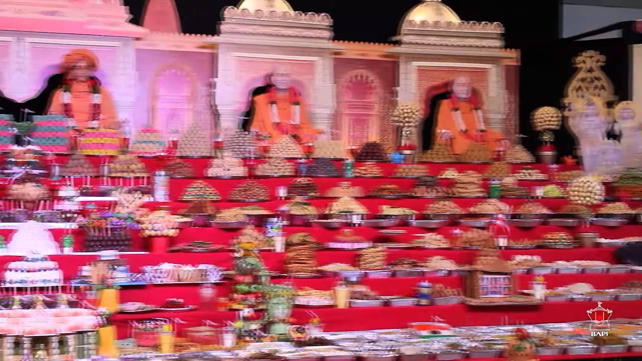 Diwali annakut celebrations perth australia youtube for Annakut decoration ideas