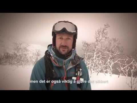 Varsom.no – H.K.H. Kronprins Haakon, gode råd for å ferdes sikkert i fjellet, snøskredvarslingen