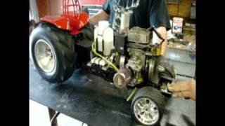 rc tractor pulling 1 5th scale mx 275 first test