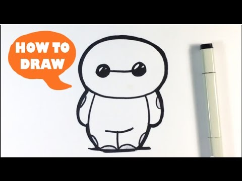Image of: Kids How To Draw Cute Baymax From Big Hero Easy Things To Draw Youtube How To Draw Cute Baymax From Big Hero Easy Things To Draw Youtube