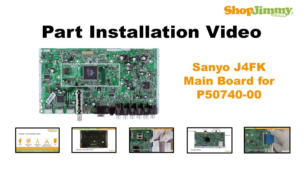 sanyo j4fk main boards replacement guide for sanyo p50740 00 plasma rh youtube com Sanyo DP50740 Main Board Sanyo DP50740 Y and Z