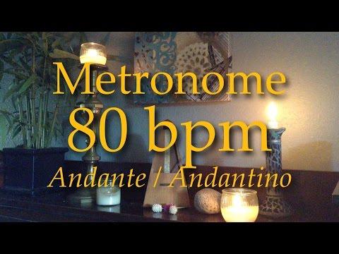 80bpm - Metronome - Tempo - Andante - Adantino - Click Track