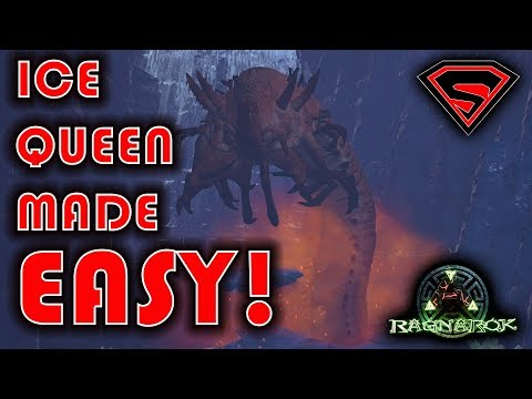 ARK RAGNAROK: ICE CAVE & ICE QUEEN MADE EASY!! EASIEST WAY TO SOLO THE  ICE CAVE & ICE QUEEN!!