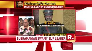 Leaders from various political parties react to the lynching on DSP Mohammed Ayub Pandith