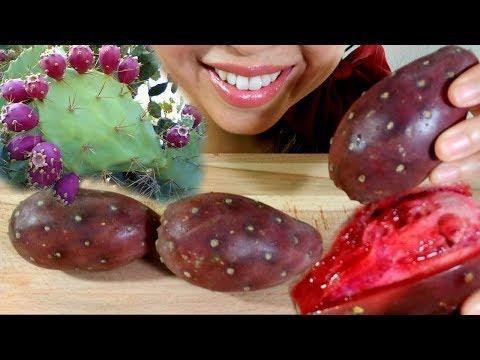 ASMR: Cactus Fruit, Prickly Pear, Tunas Mukbang 먹방 *DESERT fruit*