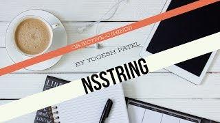 الهدف ج :- كيفية إنشاء واستخدام NSString في دائرة الرقابة الداخلية أحدث 2017(Hindi)