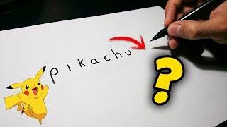Cómo convertir la palabra Pikachu en dibujo