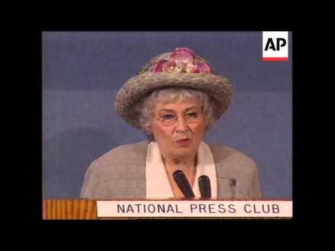 WORLDWIDE: FORMER US CONGRESSWOMAN BELLA ABZUG DIES