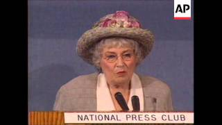 WORLDWIDE: FORMER US CONGRESSWOMAN BELLA ABZUG DIES