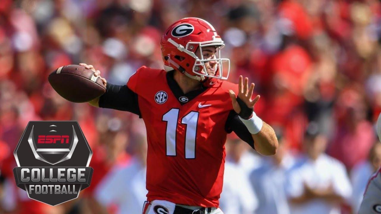 College Football Highlights Georgia Bulldogs Rout Austin Peay