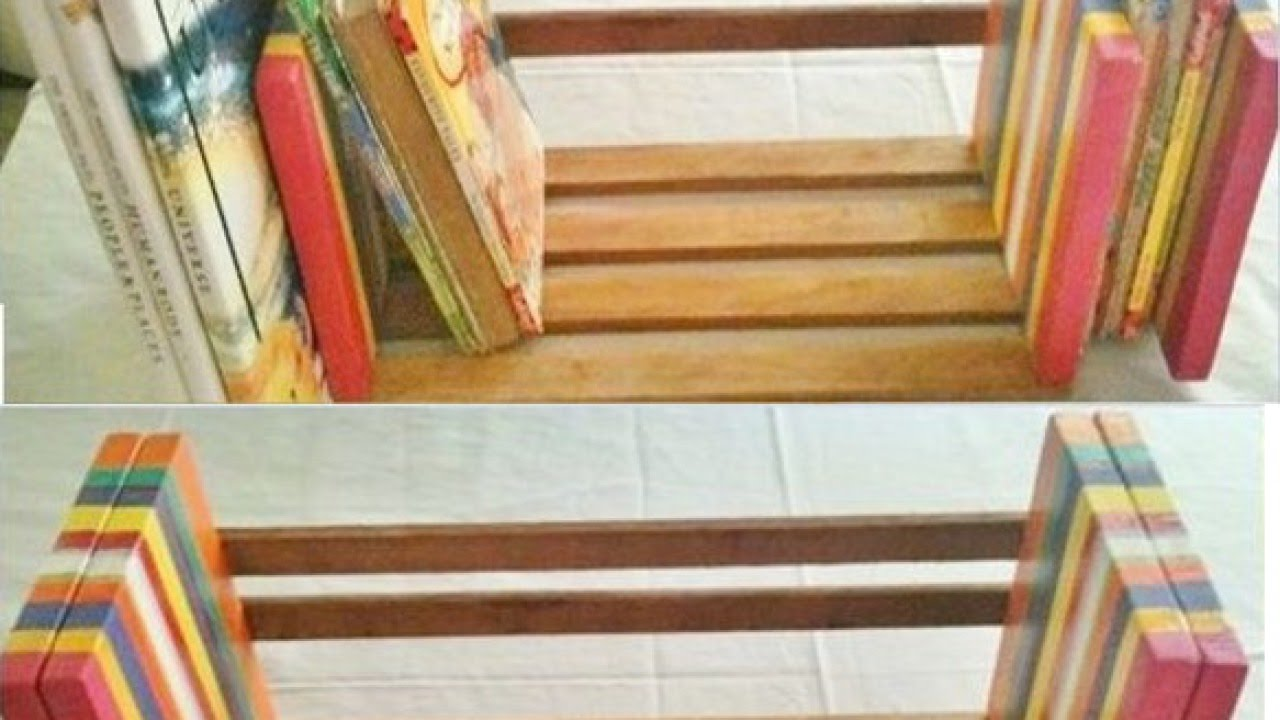 Make An Easy And Adjule Table Top Book Rack Diy Home