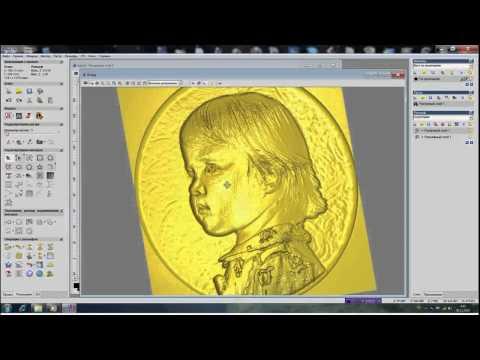 Создание рельфа головы с фото в ArtCam (HD Rus)