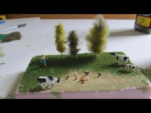 How To Make Miniature Trees For Dioramas Or Railroads Youtube