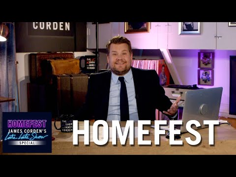 James Corden Kicks Off #HomeFest from His Garage