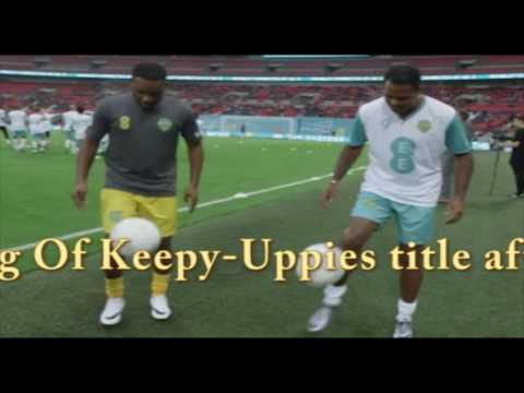 Jay Jay Okocha Beats Patrick Kluivert In Football Freestyle, Retains King Of Keepy Uppies Title