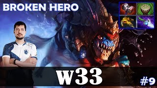 w33 - Slark Safelane | BROKEN HERO | Dota 2 Pro MMR Gameplay #9