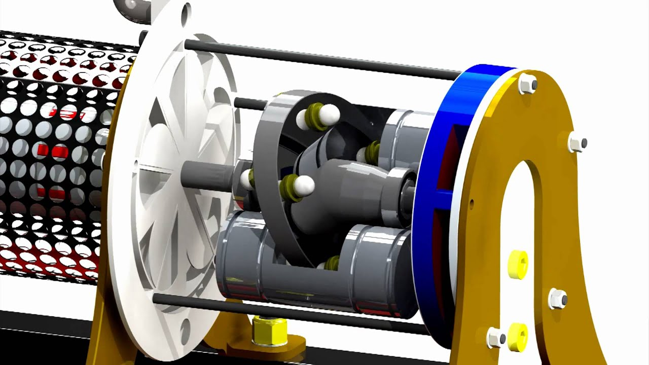 Reciprocating Movement Of Pistons On A Swash Plate Youtube
